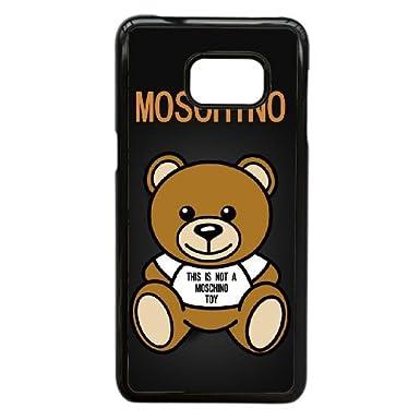 big sale 15f15 174e8 Moschino Logo Hvarp6 Samsung Galaxy S7 Edge Cell Phone Case Black ...