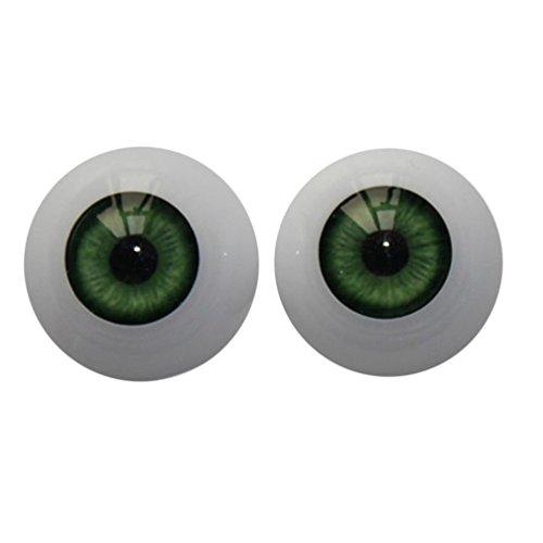 Nesee 22mm-Reborn-Baby-Dolls-Eyes-Half-Round-Acrylic-Eyes-Brown-for-BJD-OOAK-Doll DIY Reborn Baby Dolls Acrylic (Green) ()