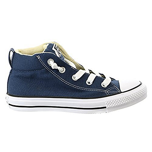 Converse Mens Chuck Taylor Street Mid Sneaker Navy/Natural/White 9 M (Converse Chuck Taylor All Star Mens Street Sneakers)