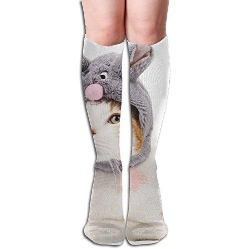 Long Stocking Cute Kitty Women's Over Knee Thigh Winter Warm Sexy Stocks Knitting Welt -