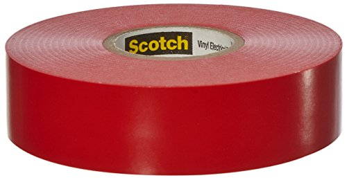 Scotch Vinyl Color Coding Electrical Tape 35, 3/4 in x 66 ft, Red from 3M Safety