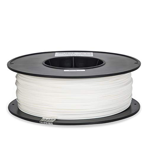 Inland 1.75mm White PLA 3D Printer Filament - 1kg Spool (2.2 lbs) by Inland