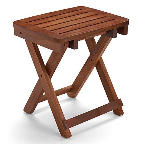 Conair Home Folding Teak Shower Seat