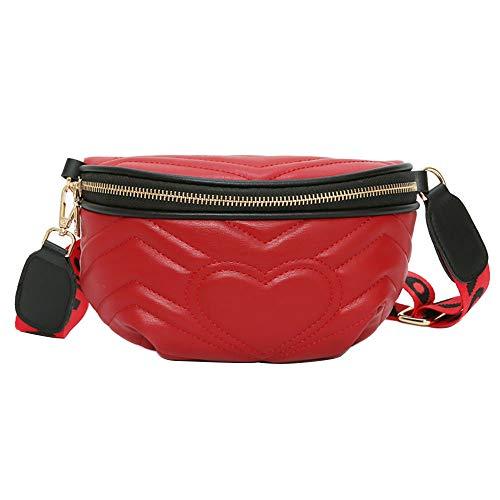 - Memela Bag, Women Chest Bag Waist Bag Love Crossbody Shoulder Bag Pocket Bag Fashion Wild Chest Bag (Red)