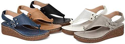 Bunion Correctie Sandalen Voor Dames Comfortabele Platform Sandaal Pu Lederen Gladiator Sandalen met Holle Gesp Strandschoenen Casual Comfort Verstelbaar,White,43