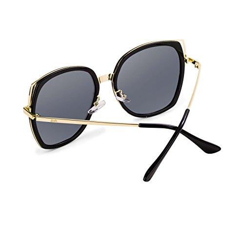 Lunettes de soleil polarisées lunettes rétro grand cadre nouvelles lunettes de soleil wayfarer mens lunettes de soleil aviateur femmes - UV 400 couleurs de protection (Color : A) YR7hwOukdL