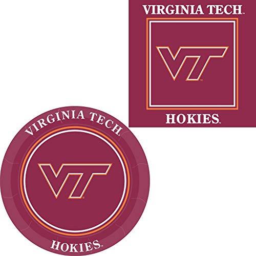 - Westrick Virginia Tech Hokies Napkins & Plates - 64 Pieces (Serves 32)