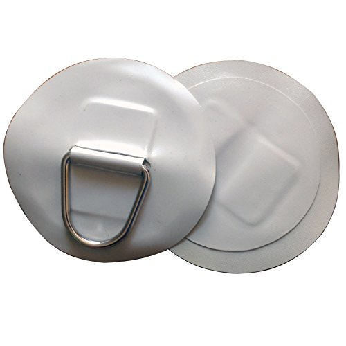 """2 PCS Inflatable Boat Stainless Steel D-Ring Light Gray PVC Patch fits for 10'2"""" INFLATABLE BOAT"""