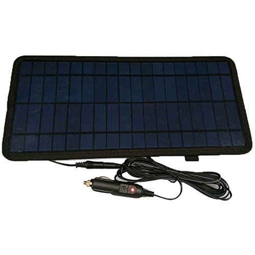 NUZAMAS 8.5W 12V Power Solar Panel Battery Charger For Car SUV Truck Boat Marine Caravan Comes with USB, Alligator Clips and Cigarette Adapter by NUZAMAS (Image #3)
