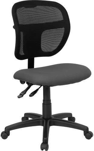 Flash Furniture Mid-Back Gray Mesh Swivel Task Office Chair