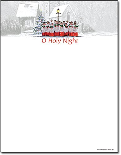 - Christmas Stationery Singing Choir Holiday Laser and Inkjet Printer Invitation Paper