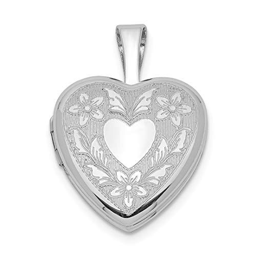 925 Sterling Silver Heart Wings 12mm Photo Pendant Charm Locket Chain Necklace That Holds Pictures Fine Jewelry For Women Gift - Jewlery Picture Frames Holder