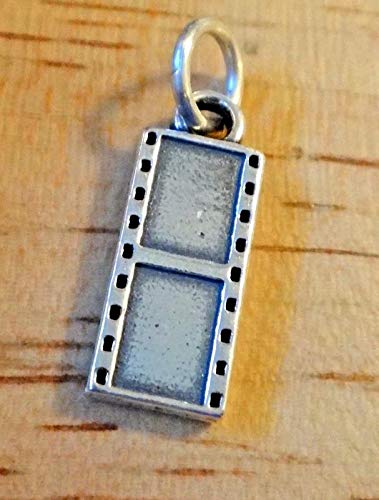 Sterling Silver 17x7mm 35mm Camera Film Negative Photography Charm Vintage Crafting Pendant Jewelry Making Supplies - DIY for Necklace Bracelet Accessories by CharmingSS