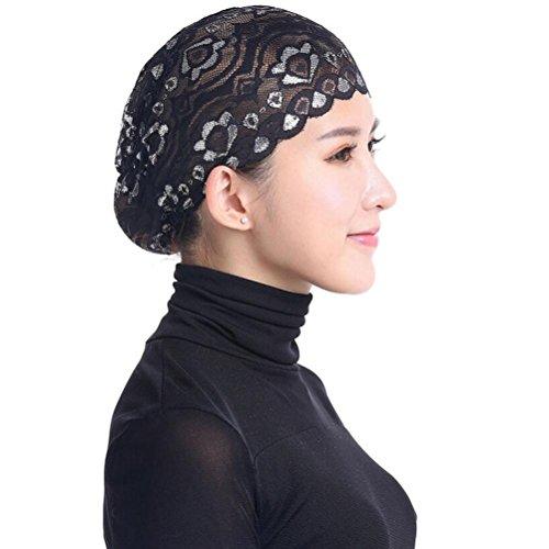 Hunputa Womens Hat Winter, Womens Girls Floral Lace Chemo Hat Beanie Soft Turban Bandana Head Wrap For Cancer ()