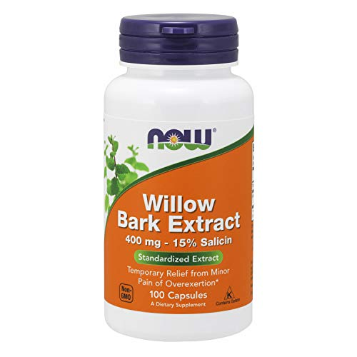 NOW Supplemetns, White Willow Bark 400 mg, 100 Capsules