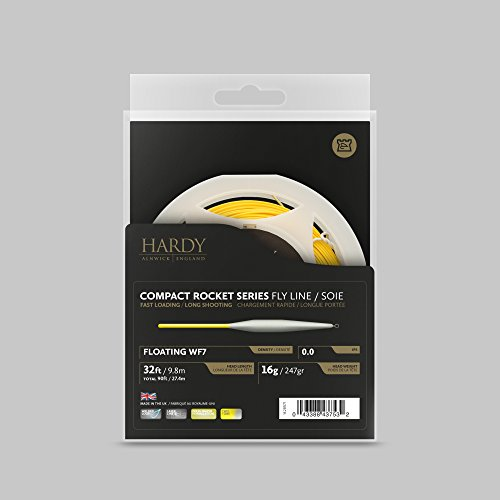 (Hardy Compact Rocket Series Fly Line, Yellow/Willow, Size wf5)