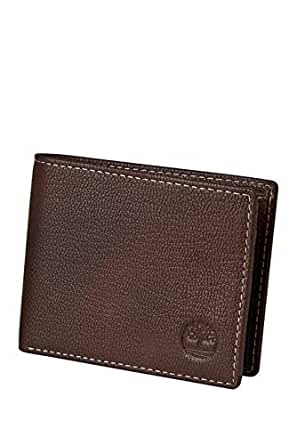 Timberland Mens Brown Leather Slimfold Wallet