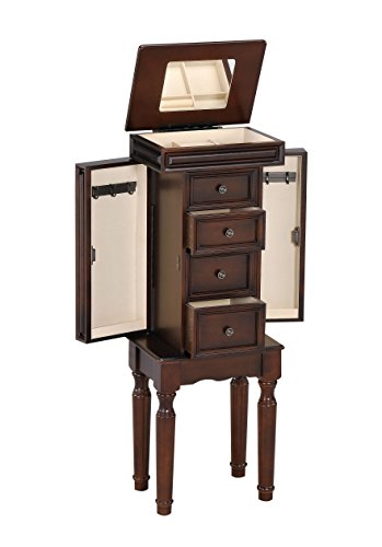 ACME Depot Jewelry Armoire, Walnut by ACME