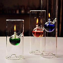 Gotian Cylinder Oil Lamp, Creative Transparent Gla