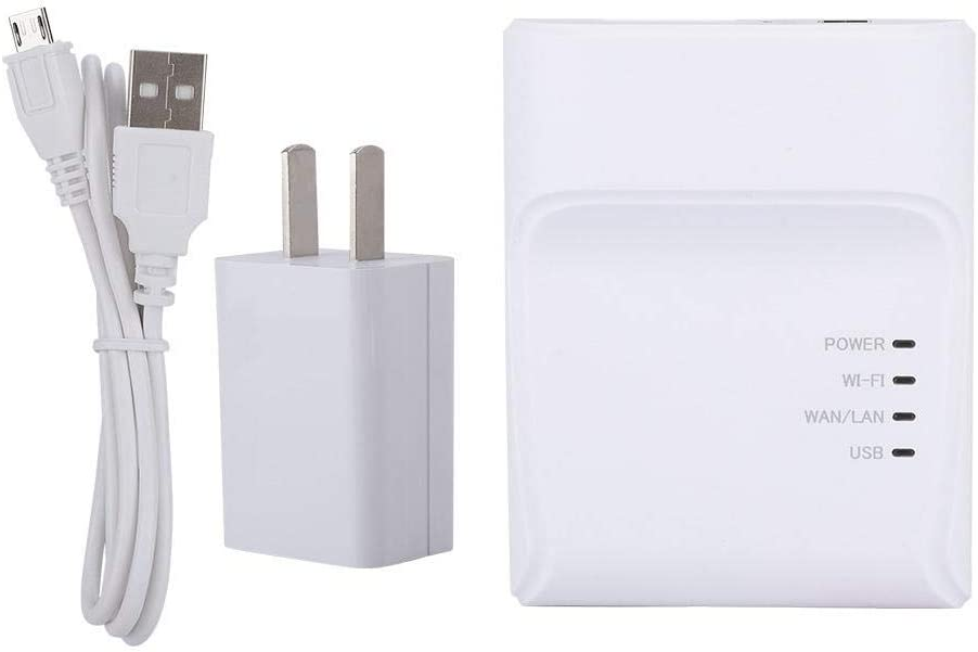 Biuzi Print Server, High Speed USB Printer Network Print Server Multiple Computer Adapter Share LAN Ethernet Networking Printers