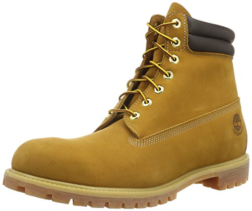 Timberland 6 in Double Collar Waterproof, Polacchine Uomo Giallo (Wheat)