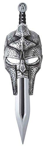 California Costumes Men's Gladiator Mask and Sword Set Kit, Silver, One Size -