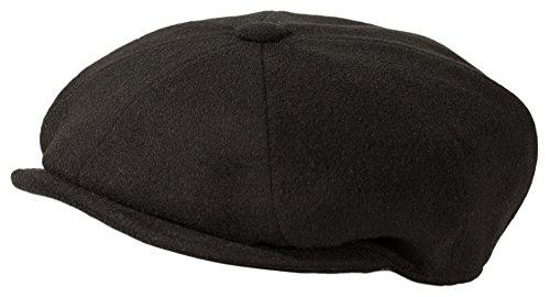 Levine Hat Cashmere 'Classico' 8-Panel newsboy Cap (XXLarge (Fits 7 3/4 To 7 7/8), Black) by Levine Hat
