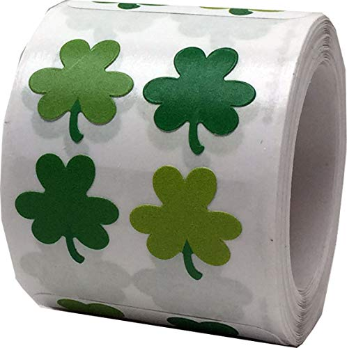 Tiny Shamrock Stickers 100 Sets Lucky Labels on a roll