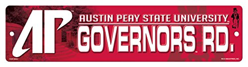 NCAA Austin Peay Governors 16-Inch Plastic Street Sign Décor ()