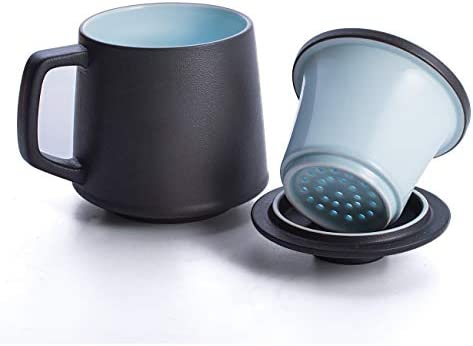 SULIVES Ceramic Porcelain Strainer Steeping product image
