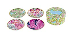 Lilly Pulitzer Ceramic Coaster Set, In The Bungalows (161602)
