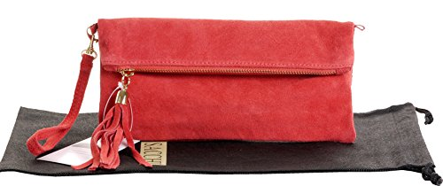 Bag Water Over Hand Protective or Leather Wrist Made Clutch Bag Suede Branded Melon Shoulder Storage Fold Italian FBqvv