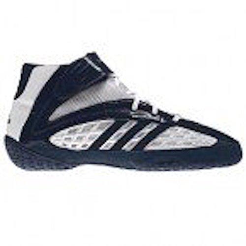 Adidas Vapor Speed Wrestling Shoes - White/Navy/Navy - 7.5