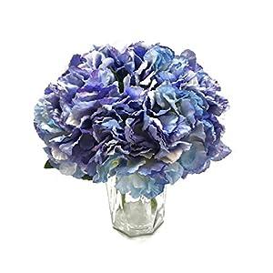 Artfen 5 Pack Artificial Hydrangea Flowers Fake Silk Bouquet Flower Home Hotel Wedding Party Decor Approx 14'' High 14