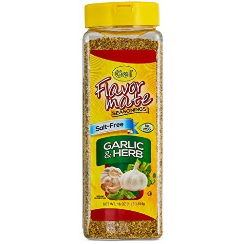 - Flavor Mate Garlic & Herb No MSG Salt Free Seasoning - 16 oz - Club Size
