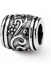 Sterling Silver Floral Charm Bead Fits Pandora Chamilia Biagi Bracelet