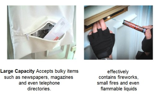 Retardant Letterbox Bag Internal Letter Box Security Safety Cover Fire Proof Extra Security Prevents Arson Attacks