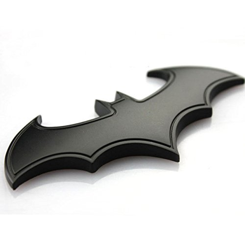Dealetech DIY Batman 3D Metal Sticker Auto Car Motorcycle Logo Badge Emblem Tail Decals (gold)]()