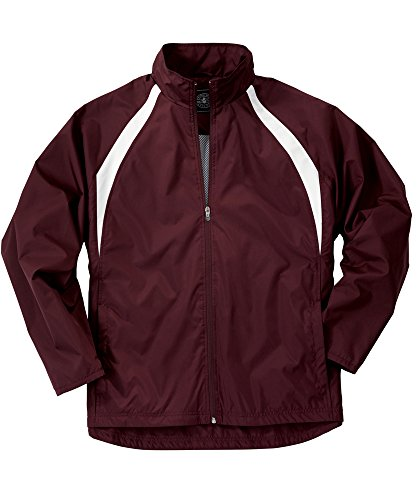 (Charles River Apparel Men's TeamPro Jacket, Maroon/White, 3 Extra Large)
