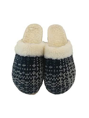 Ideale sabot Lana Scarpa Tessuto Blu Anche In lana Colore Stare Fodera Italy Shoes Made Casa grigio Silfer Sughero Vero Zoccolo Per xqYwSgn7aC