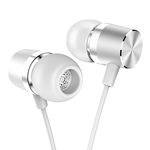 In Ear Headphones SDFLAYER Silverlight Earbuds Dynamic Driver Simple and Lightweight with Anti-tangle TPE Cord Metal Housing For iOS Android Phones Music Player