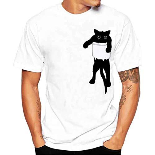 Ansenesna Camisetas Hombre Manga Camisas Corta Sudaderas Que Imprimen La Blusa Camiseta De Manga Corta De La Camisa De Las Camisetas: Amazon.es: Ropa y ...
