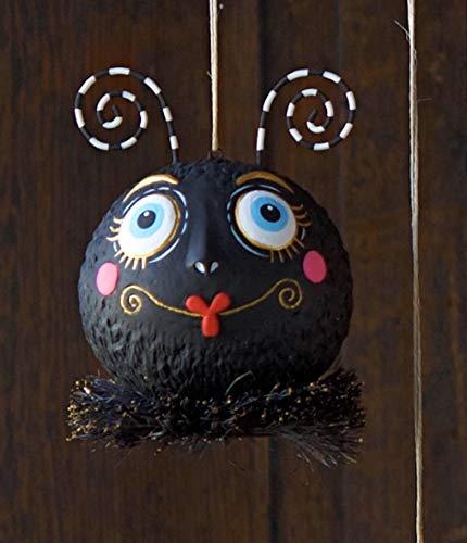 "Glitterville DEPT 56 Halloween Spider Hanging Ornament Resin 6"" (Spider 56 Halloween)"
