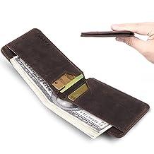 Front Pocket Wallet for Men RFID Blocking Slim Bifold Leather Minimalist Card Case