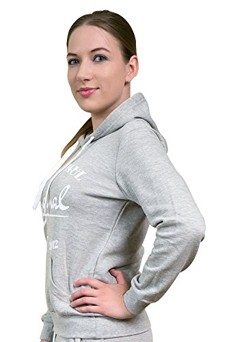 James and Paul - Sudadera con capucha - para mujer gris
