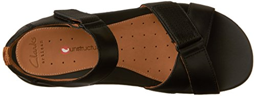 Walking Black 9 Womens Leather Size Saffron Un Sandal Clarks StqaZ