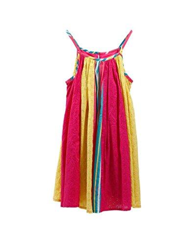 Home Line Vestido 100% Algodón Happy de Colores para niña (Talla 4,6,8,10) - 10 años