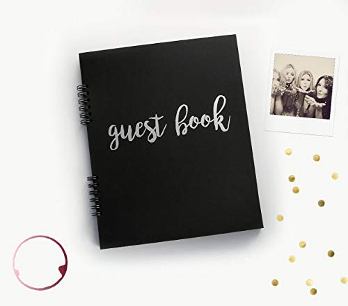 Modern Guest Book for Polaroid Pictures, Birthday Guest Book Anniversary Photo Booth Guest Book Instax Guest Book 9.5