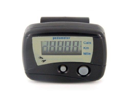 Multifunctional Electronic Digital Pedometer Step Counter (Black)