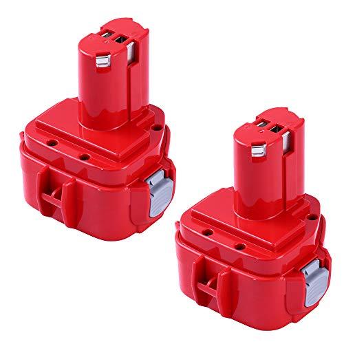 Battery Volt 12 1201 - 2 Packs 12 Volt 3000mAh Replacement for Makita 12V Battery Ni-Mh 1200 1220 1201 PA12 1222 1233S 1233SA 1233SB 1235 192681-5 Cordless Tools